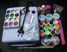 Professional Full Set 12 color UV Gel Kit Brush Nail Art Set + 36W Curing UV Lamp kit Dryer Curining Tools BTT-76