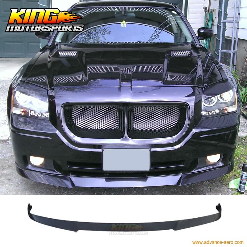 FOR 2005 2006 2007 Dodge Magnum Wagon Black Front Bumper Lip Spoiler Bodykit PU