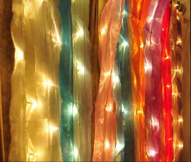 Novo Tailandês de Alta-grade Luzes Da Cortina de Fios de Pérolas Decorativo Loja Casa de Planejamento do Evento Decoração Do Casamento Do Natal Luzes de Fundo