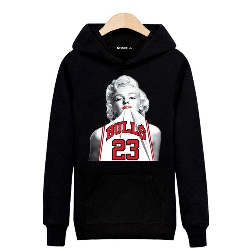 Beauty Marilyn Monroe Mens Hoodies And Sweatshirts Hip Hop Sexy Goddess Sweatshirt Men Hoodie Fashion Autumn Plus Size Clothes