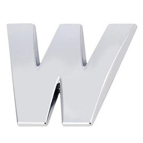 3D DIY Металлик Алфавит Стикеры эмблема автомобиля письмо знак наклейка, серебро-W ...