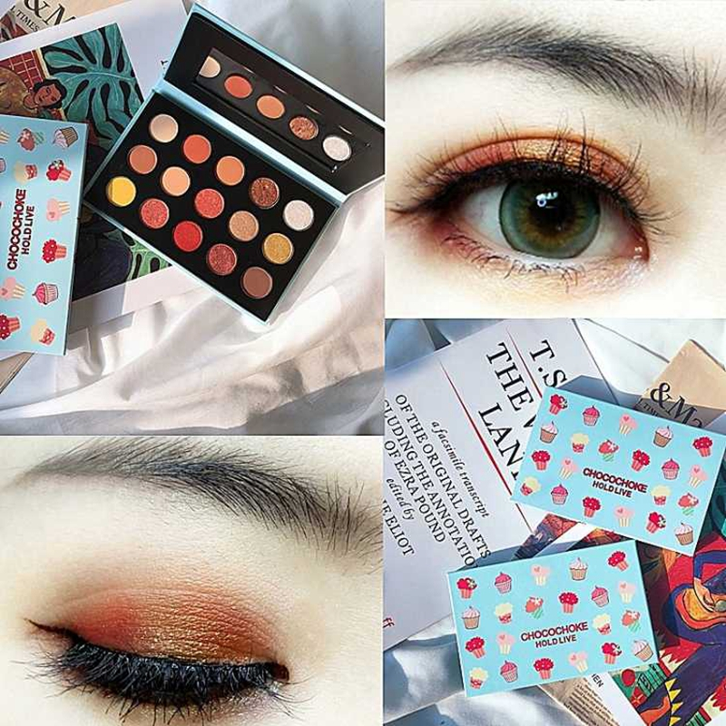HOLD LIVE Pro Nude Earth Color Makeup Eyeshadow Palette with Brush Shimmer  Matte Pigment Glitter Eye 2a8187a48a0a