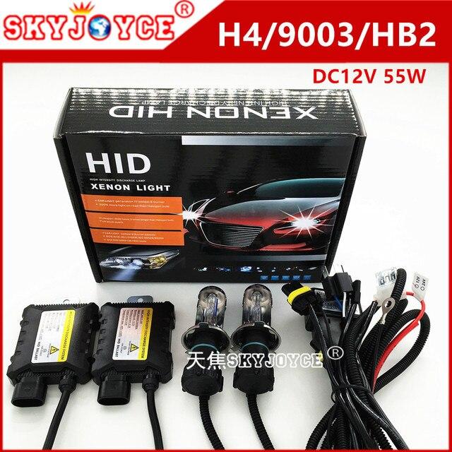 car light dc12v 55w xenon kit h4 hid xenon h4 3000k for cnlight