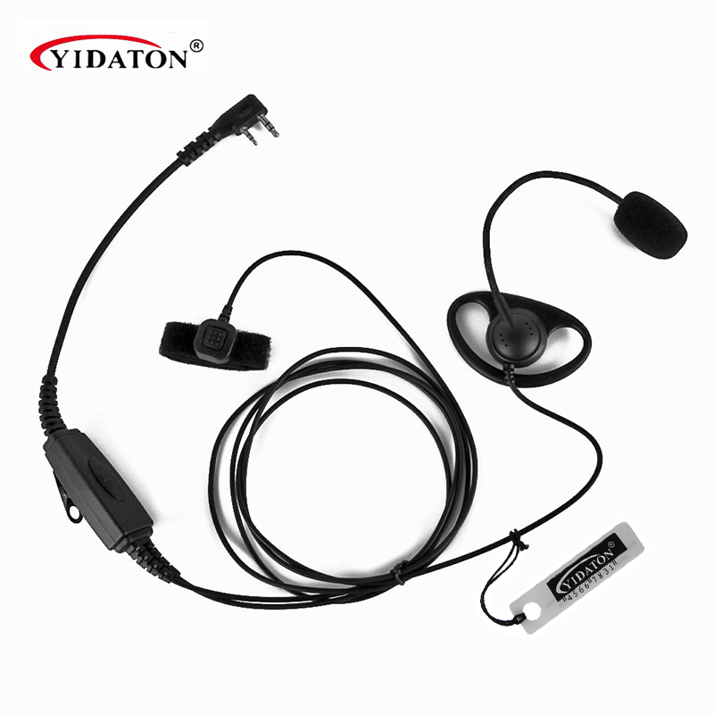 Walkie Talkie K Type 2 Pin Speaker Mic Microphone Headset Earpiece