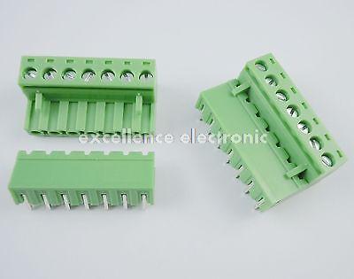 10 Pcs 5.08mm Pitch Right Angle 7 pin 7 way Screw Terminal Block Plug Connector 2EDG 1804849[pluggable terminal blocks 7 pos 7 62mm pitch through mr li