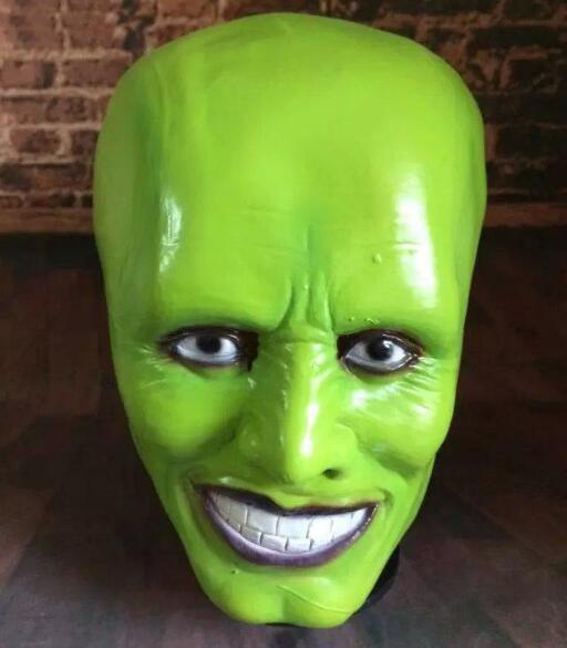 X-MERRY TOY Halloween Party Cosplay Latex Mask Jim Carrey Costume Fancy Dress Famous Movie Film Props 'The Mask' image