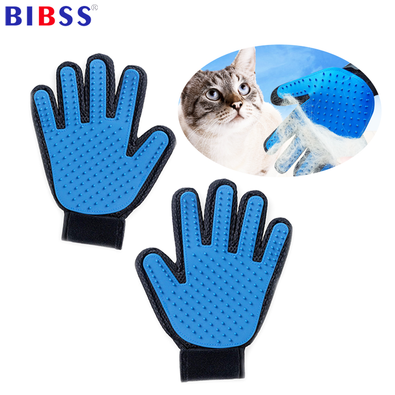 Pet Cat Grooming Deshedding Brush Glove For Animals Dog Gentle Efficient Back Massage Fur Washing Bathing Brush Comb