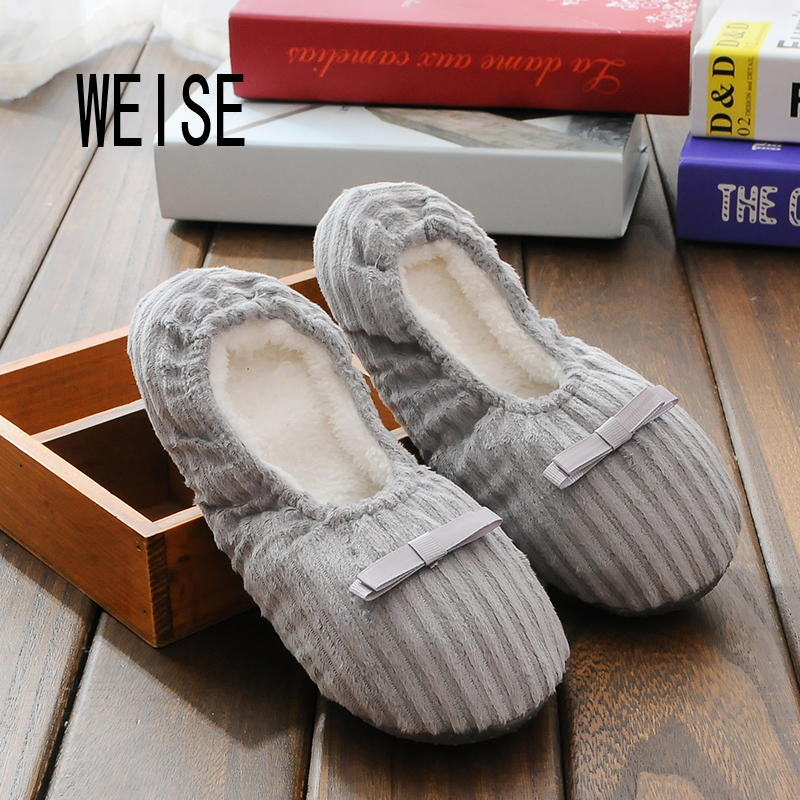 WEISE Free Shipping Hot Selling Winter Women Home Slippers
