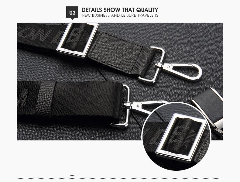HTB13G1mg nI8KJjSszbq6z4KFXay BISON DENIM Genuine Leather Handbag Men Business Messenger Bag 14'' Laptop Tablet leather Shoulder Bag Crossbody Male bags N2317