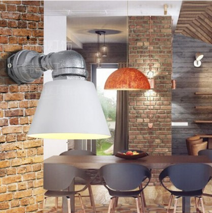 Retro Water Pipe Wall Lamp Vintage Fixtures Loft Style Industrial Wall Sconce LED Stair Light Arandela Lampe america rustic vintage pipe wall lamp in loft industrial style stair light edison wall sconce arandela lampara aplik