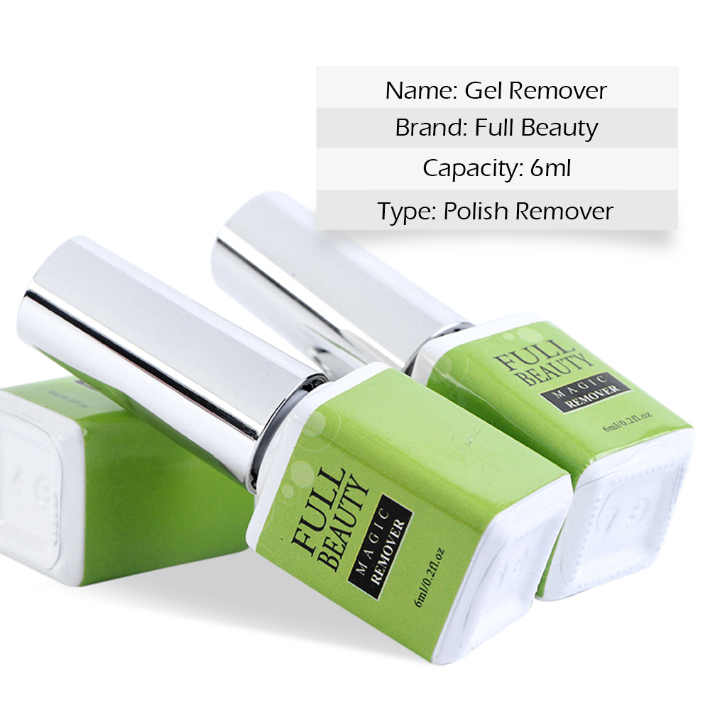 6ml Nail Polish Remover Burst Magic Soak Off Gel Nail Degreaser Sticky Layer Cleaner Gel Liquid Healthy Manicure Tool SA1508 in Nail Polish Remover from Beauty Health