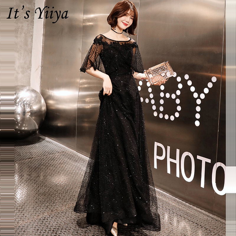 Evening Dresses Plus Size 2019 Sexy Backless Long Elegant Half-sleeve Prom Dress Women Party Dress Fashion Robe De Soiree E526