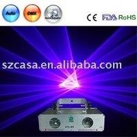 Wholesale Free Shipping Double 2 Lens 100mW 100mW Violet Laser Light DMX SOUND AUTO DJ Disco