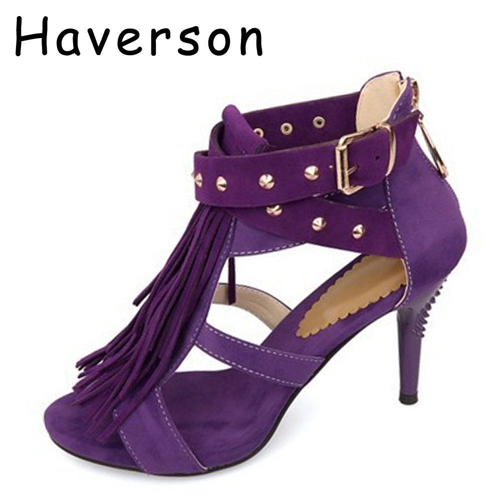 Purple Sandal Heels Promotion-Shop for Promotional Purple Sandal ...
