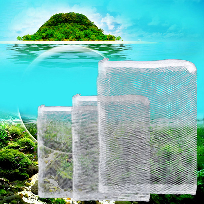 Buy 5pcs mesh bag acquarium pond filter for Fish pond filter mesh