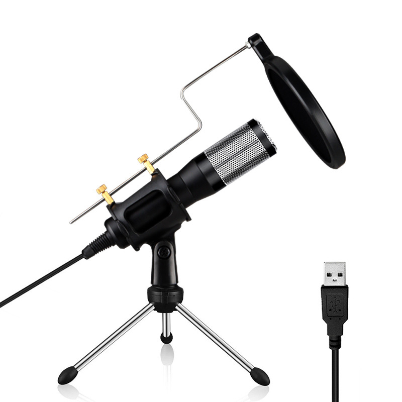 Professional PC Microphone Condenser For Computer Mic USB Plug +Stand YouTube Live Stream Broadcasting Recording Microfone