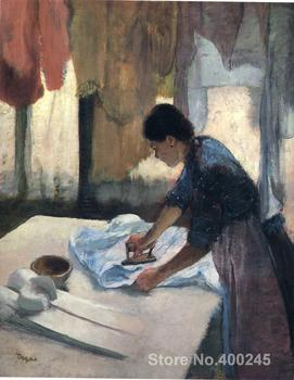Woman Ironing Paintings by Edgar Degas Portrait art High quality Hand painted