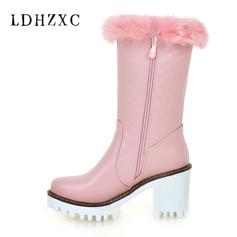 b4a33a750 Comprar LDHZXC 2018 nuevas mujeres invierno nieve botas zapatos de invierno  botas marca mujeres zapatos de invierno de alta calidad rodilla botas  Online ...