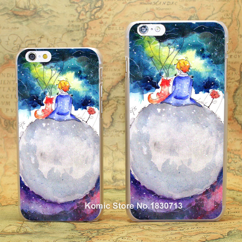 The Little Prince (2) Pattern hard transparent clear Cover Case for iPhone 4 4s 5 5s 5c 6 6s 6 Plus