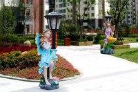 Отличный Подарок Солнечный Ангел свет лампы сад Кол Открытый Двор Ландшафтный Декор светодио дный лампы огни или внутреннего украшения дом