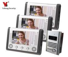 Cheaper Yobang Security IR Night Vision Door Intercom 7″ Home Video Door Phone Waterproof Camera Monitor&Rain Cover With Doorbell