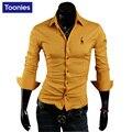 Новый 2017 Brand Clothing Сорочка Homme Однобортный Мужские Рубашки Животных Вышивка Бизнес Случайный Рубашки Мужчины Мужчины Рубашки
