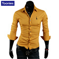 New 2017 Brand Clothing Chemise Homme Single Breasted Mens Dress Shirts Animal Embroidery Business Casual Shirt Men Male Shirts
