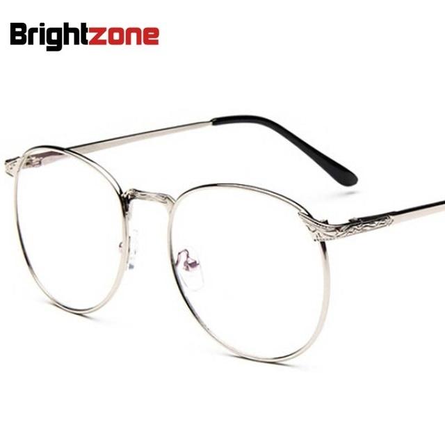 7f7a338e15 US $6.29 10% di SCONTO|Vintage Unisex Retro Stelle Rotonde Lenti Incolori  occhiali Optical occhiali da vista In Metallo Full metal cornice occhiali  ...