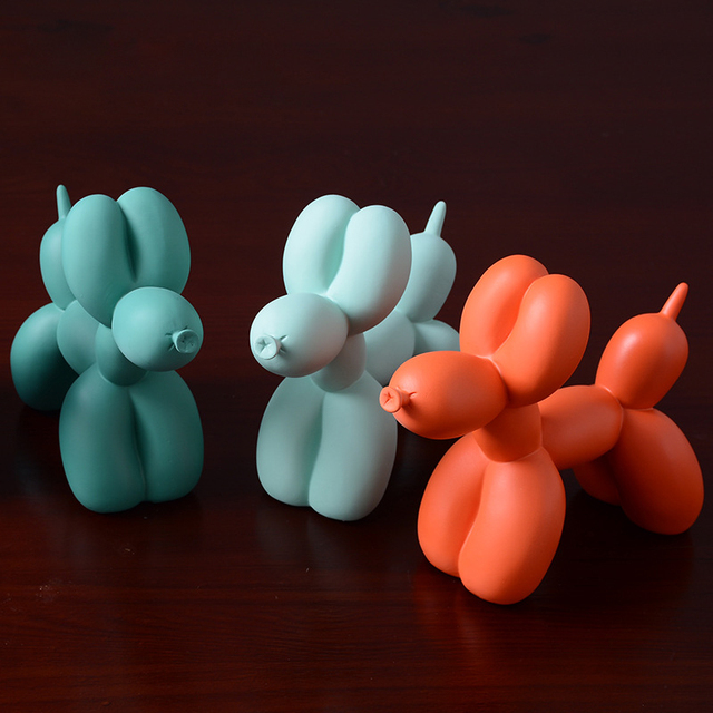 Nordic Creative Balloon Dog Home Decorations Living Room Bedroom TV Cabinet Decoration Cute Resin Animal Desktop Ornaments Gift 3