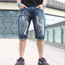 New 2015 Summer Jeans Denim Shorts Hole Thin Boys Capris Slim Men Pants Denim Shorts Thin Beggar Boys Short Jeans Men