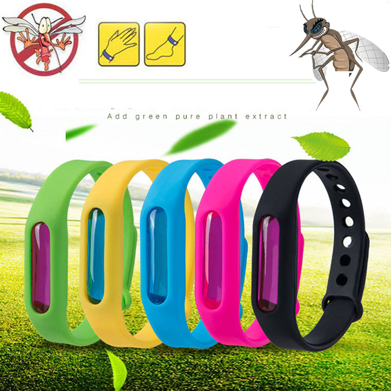Dropship Mosquito Killer Silicone Wristband Summer Mosquito Repellent Bracelet Anti Mosquito Band Children Insect Killer(China)