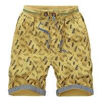 2017 Summer New Fashion Print Shorts Man Cotton Loose Elastic Waistband Mens Bermuda Shorts