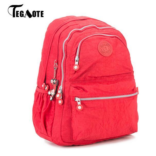 2017 TEGAOTE Women Backpack Nylon Printing School Bags for Teenage Girls Cute Bagpack Vintage Laptop Backpack Female Rucksack