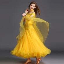 תחרות ריקודים סלוניים שמלות ריקוד סלוניים ואלס שמלות תקן ריקוד בנות אולם נשפים שמלת אישה ריקוד ללבוש
