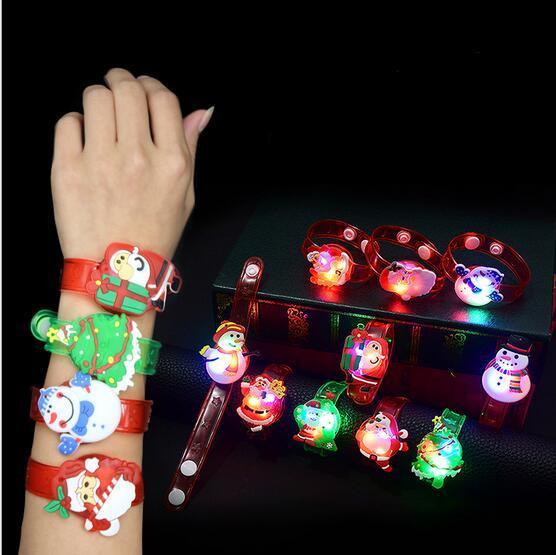 21 Style Choose Hot Cute Cartoon LED Watch Toy Boys Girls Flash Wrist Band Party Christmas
