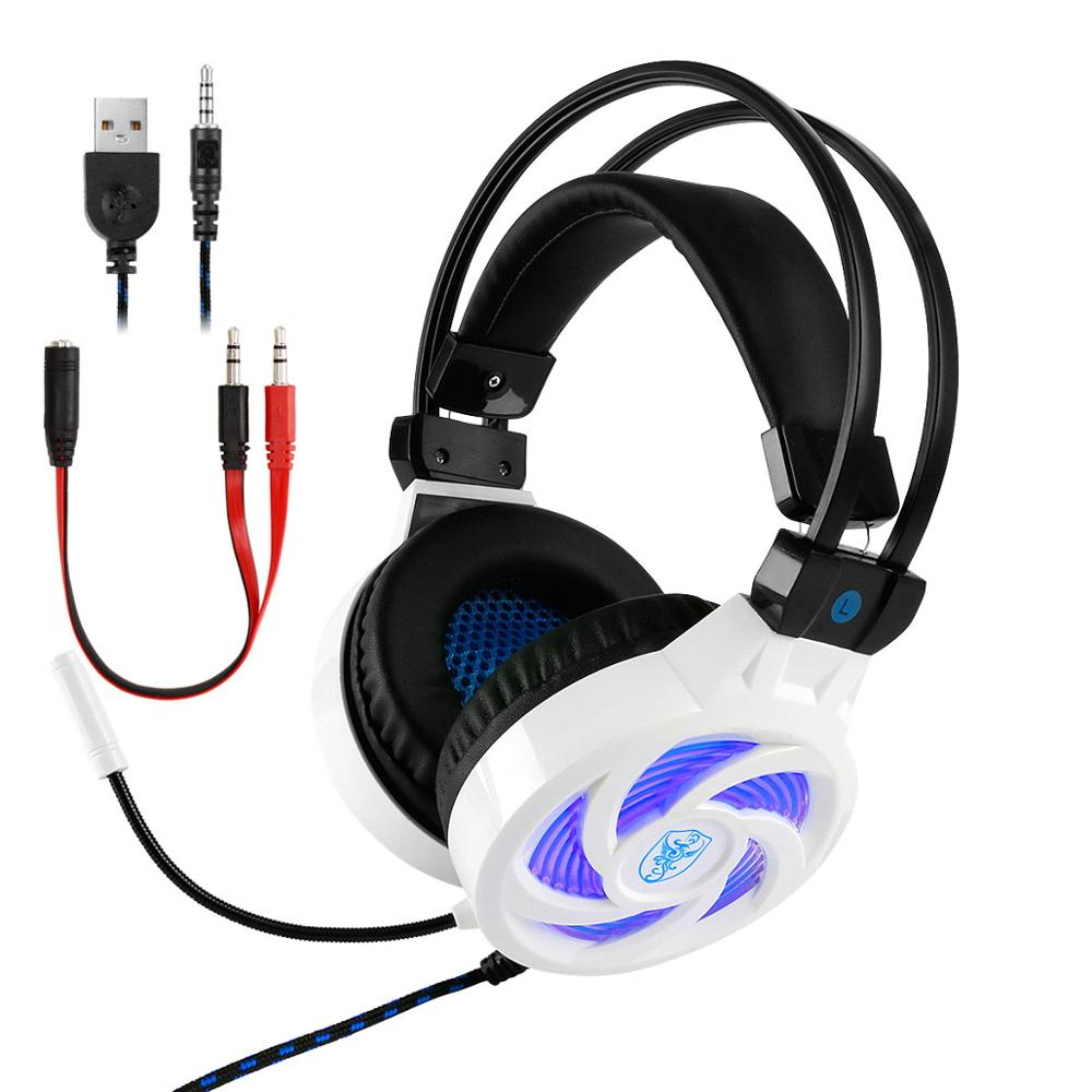 Best Gaming Headphones Headset Deep Bass Stereo Wired Gamer Earphone Microphone with Backlit for PS4 Phone PC Laptop Xbox One in Headphone Headset from Consumer Electronics