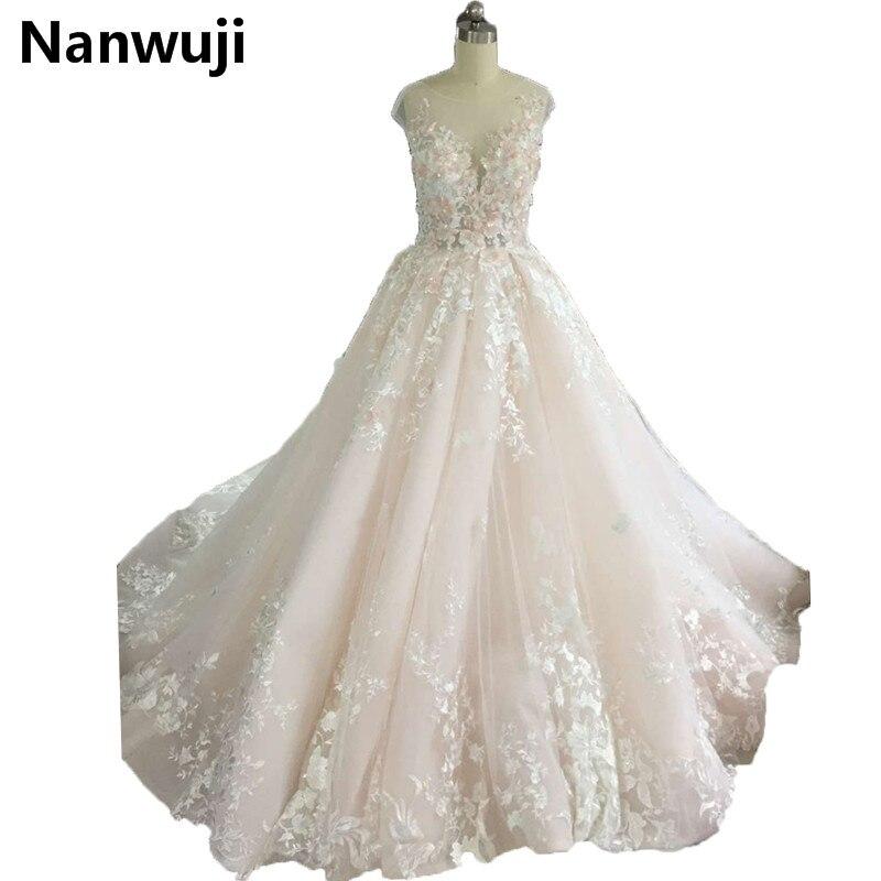 vestido de festa 2017 New Real Photos o neck 3D Flower Chapel Train Backless robe de soiree Evening Dress moroccan kaftan