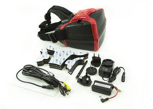 Headpay Goggle 5.8G Rx 32 channels  FPV video glasses For Racing qudcopter Red