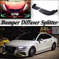 Car Splitter Diffuser Bumper Canard Lip For Audi A7 RS7 Tuning Body Kit / Front Deflector Car Flap Fin Chin Reduce Body