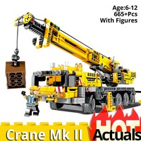 SY 701800 Technic Motor Power Mobile Crane Mk II Model Building Kits Blocks Toy Bricks compatible legoing 42009 Christmas gift