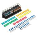 Universal 12/24 v 8 vias circuito padrão lâmina fusível caixa titular fusíveis bloco para carro caminhão barco rv