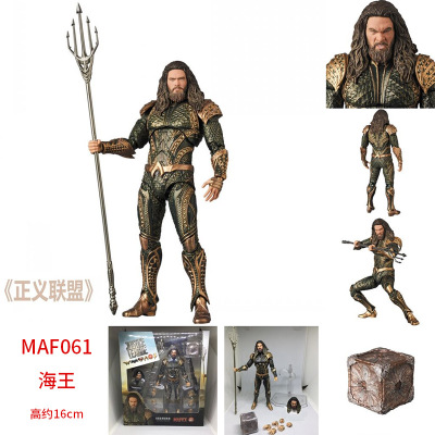Héros de la ligue de Justice Chiger DC Comics MAF061 roi de mer aquaman Atlantis poupée Action de collection 16 cm Statue jouet Figure