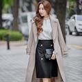Original 2016 Brand Saia Autumn Winter Plus Size Knee Length High Waist Slim Elegant Casual Midi Wool Skirt Women Wholesale