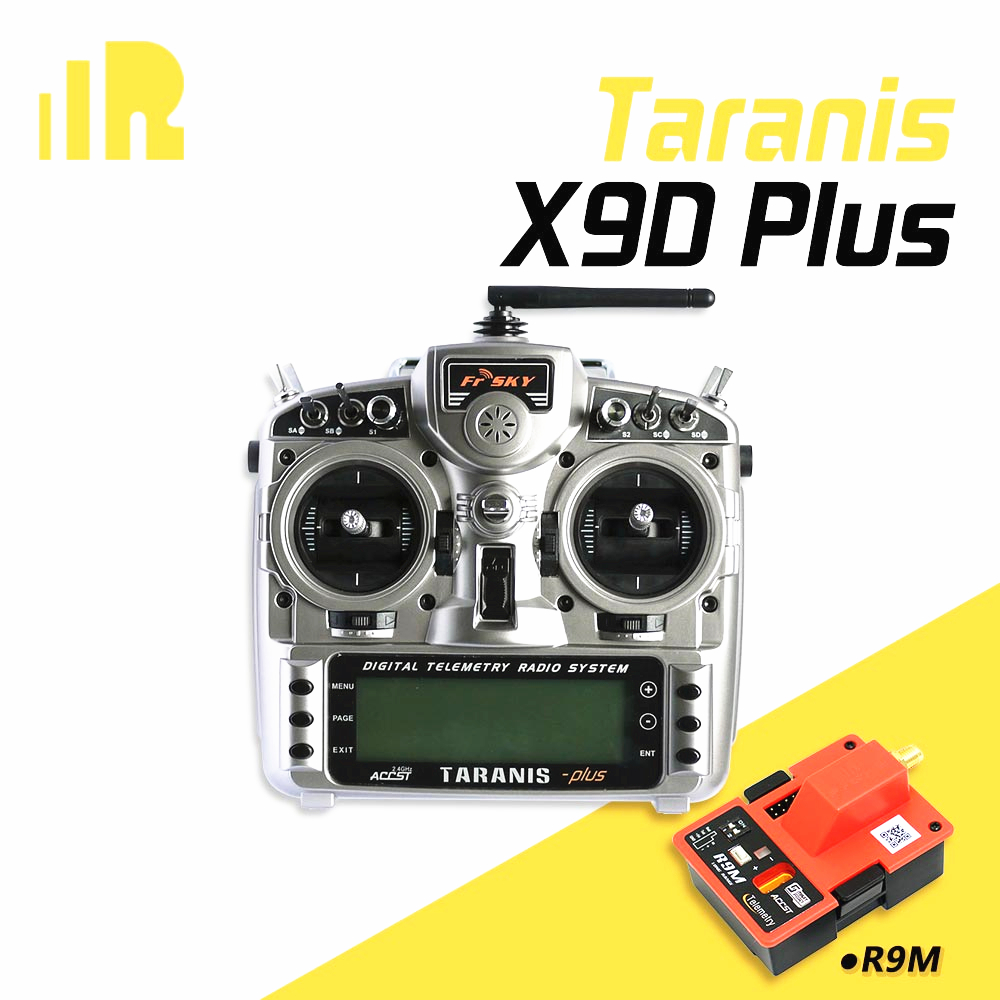 FrSky X9D Plus Transmitter 2.4G 16CH ACCST Taranis with X8R/ R9M battery Carton Package For RC Model цены