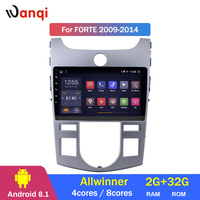 2G RAM 32G ROM 9 Inch Android 8.1 Car Dvd Gps Player for KIA forte 2009 2014 Radio Video Navigation Bt Wifi