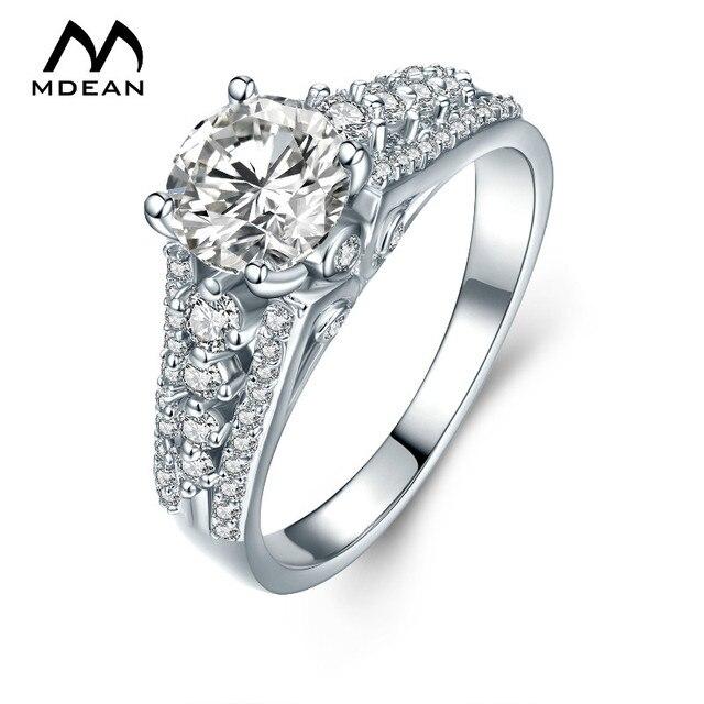 Mdean Weiss Gold Farbe Ringe Fur Frauen Mode Frauen Hochzeit