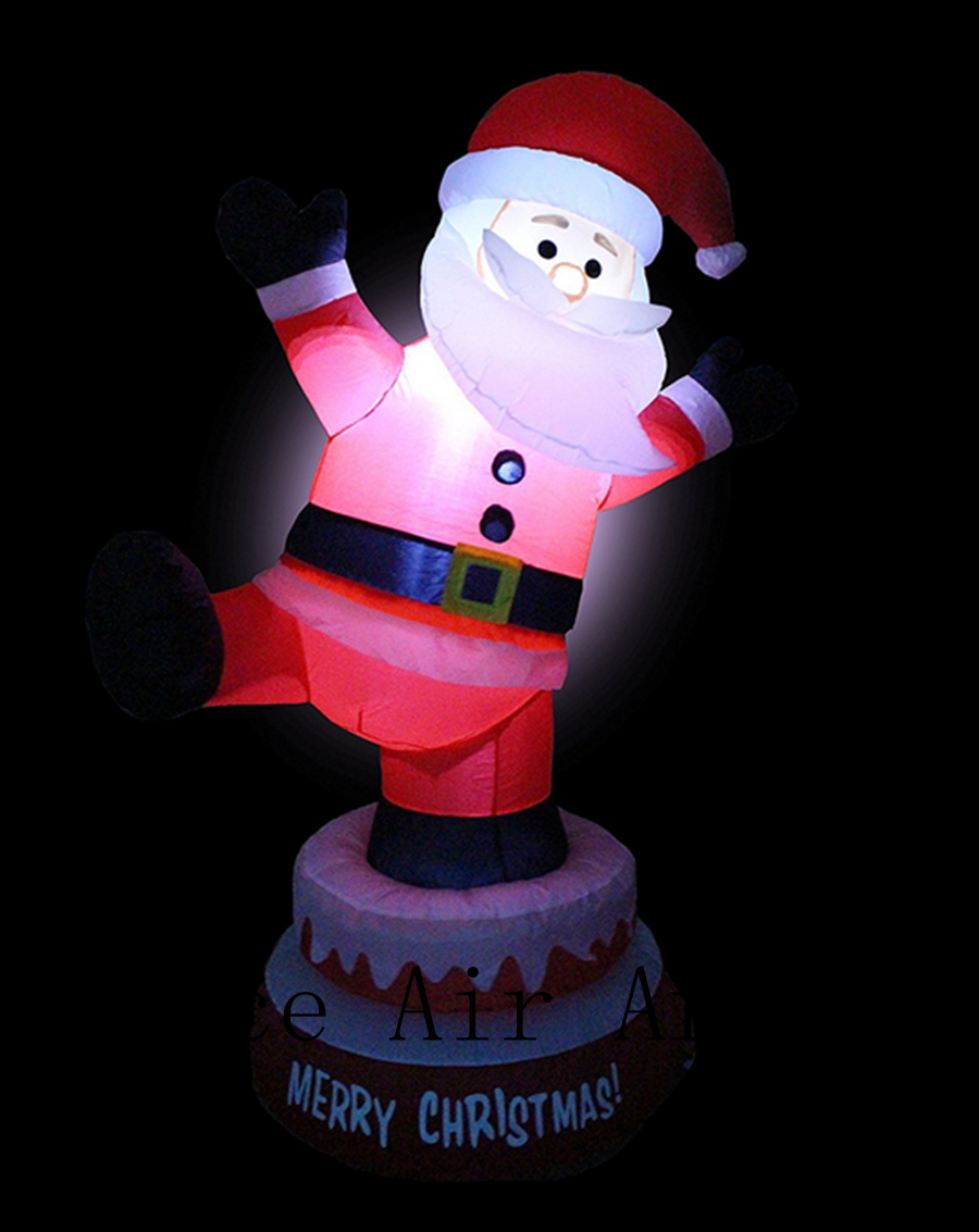 lighted animated christmas inflatable santa claus outdoor indoor yard decoration