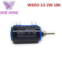 1PCS Smart Electronics 1Pcs WXD3-13-2W 10K Rotary Side Rotary Multiturn Wirewound Potentiometer(China)