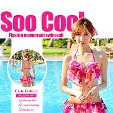 2019 Bikini Swimwear 3 Set Sexy Japanese Women Push Up Swimsuit Off Shoulder Bathing Suit Biquini Ruffle Summer Beach Set цена 2017