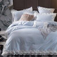 Роскошные 3D кружево принцессы постельное белье 60 s хлопок постельное белье лепесток листы высокого качества «king», «queen» Размеры крышка комф